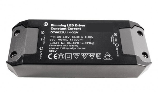 LED converter 700mA, 22W, dimmable