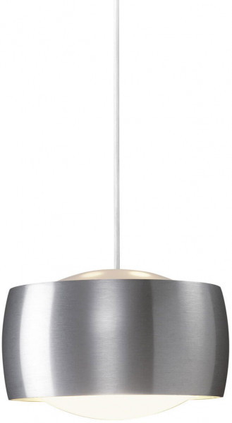Pendant luminaire GRACE for G9 retrofit lamps - here the version with luminaire head in brushed aluminum finish