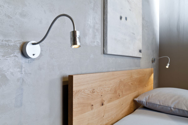 Wall light / bedside lamp JUST A LITTLE by Oligo - here the variant with housing and toggle switch