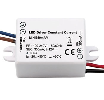 Constant current LED converter 300mA, 4W, not dimmable (example photo)