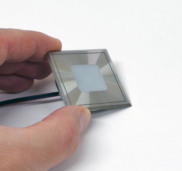 Sehr flache LED-Bodeneinbauleuchte / Wandeinbauleuchte aus Edelstahl für den Innen- und Aussenbereich