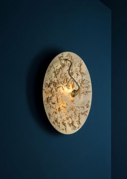 Wandleuchte Luna Piena von Catellani & Smith in Oberfläche Blattgold