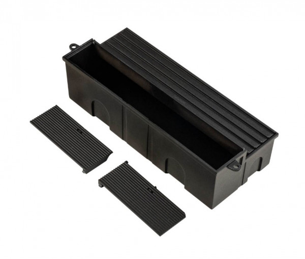 Wall recessed box made of plastic for mounting in masonry or concrete for recessed wall lights