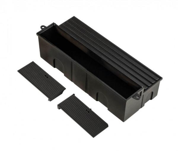 Wandeinbaubox aus Kunststoff zur Montage in Mauerwerk oder Beton für Wandeinbauleuchten
