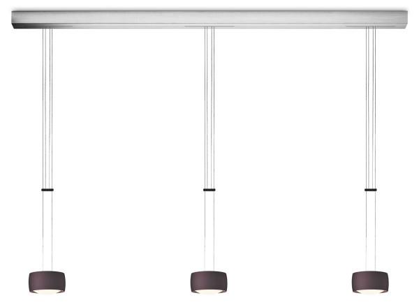 LED pendant luminaire GRACE with luminaire head version Espresso