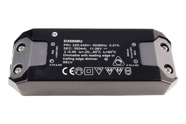 LED converter 350mA, 9W, dimmable
