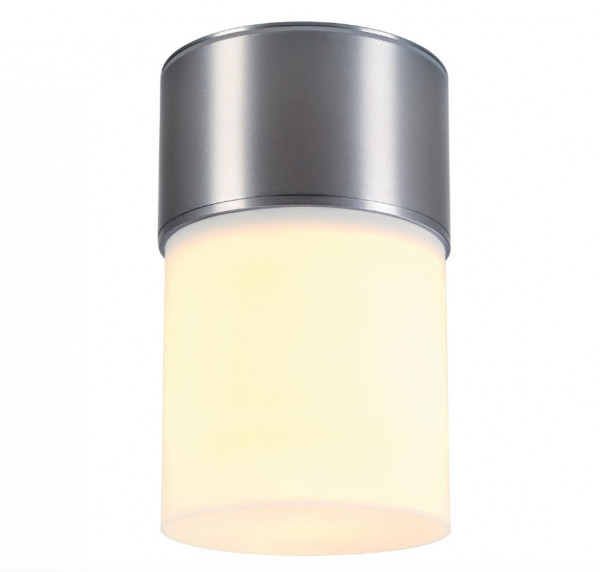 LED ceiling light with diffuse radiation, aluminum body. For exchangeable E27 retrofit lamps