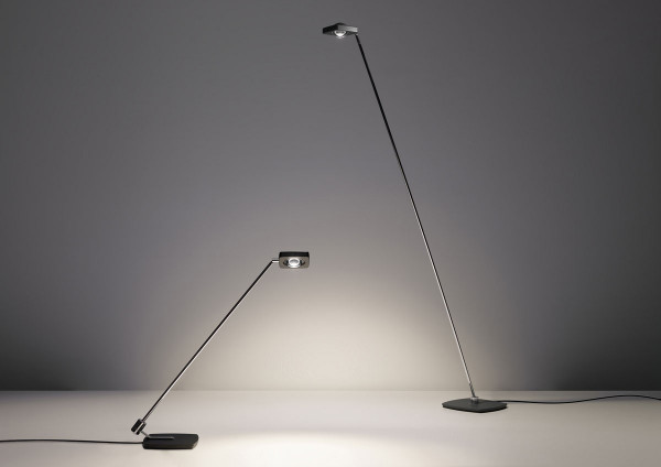 On the left the table lamp and on the right the floor lamp KELVEEN by Oligo