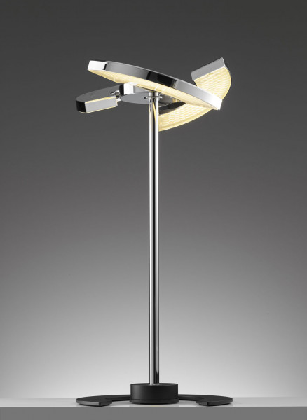 LED table lamp TRINITY from the OLIGOplus range in chrome