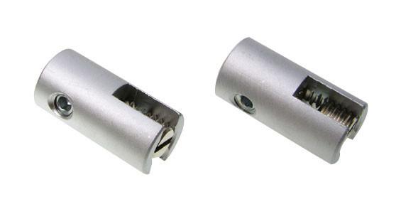 Paar Einspeiseklemmen für das LIGHT LINE System - hier die Variante in Oberfläche Chrom matt