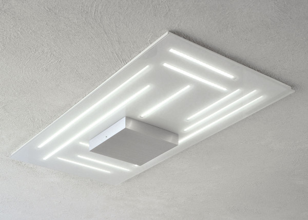 LED ceiling light FINE by Escale - here the rectangular version with 40 x 81cm
