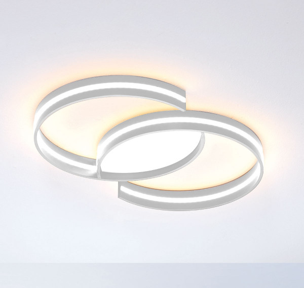LED ceiling light CIRCLES from Escale - here the variant S (d = 46cm) with surface anodised, smoothed aluminum