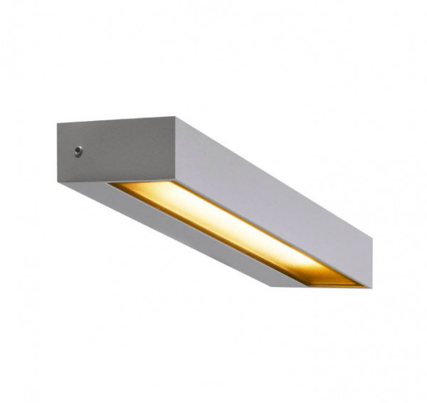LED facade spotlight in gray surface with one-sided radiation and a 7.7W LED with 450lm