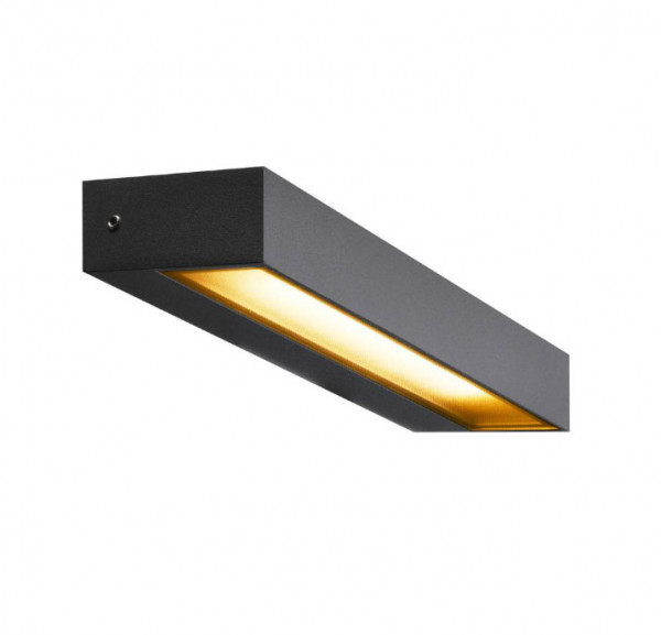 LED facade spotlight in anthracite surface with one-sided radiation and a 7.7W LED with 450lm