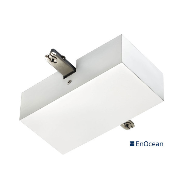 EnOcean central supply for the 230V track system DUOLARE from Bruck - here the version in surface white