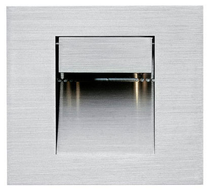 LED recessed wall light made of stainless steel for illuminating corridors, passageways or stairs