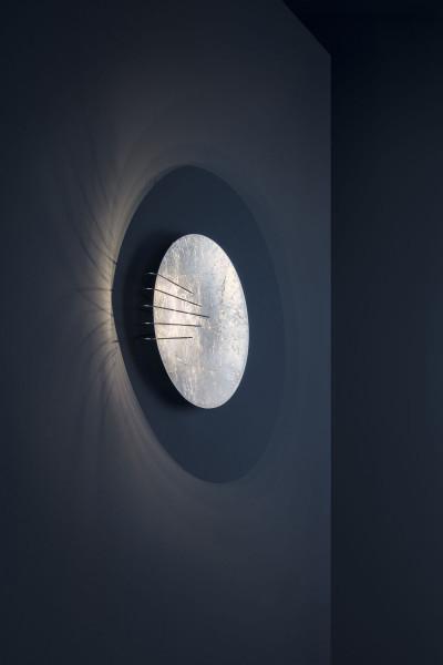Wandleuchte Full Moon von Catellani & Smith in Oberfläche silber
