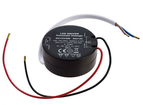 12V LED converter with constant output voltage, not dimmable, suitable for installation in flush-mounted boxes / cavity wall boxes
