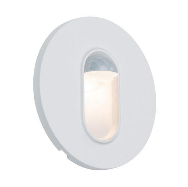 LED recessed wall light with built-in motion detector / sensor for illuminating corridors, stairs, steps etc.