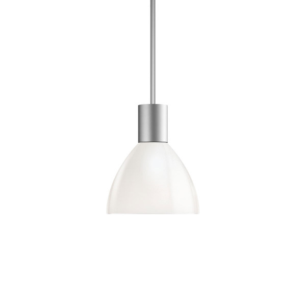 Pendant luminaire SILVA NEO 110 LED for the 230V track system DUOLARE from Bruck - here the variant with surface matt chrome