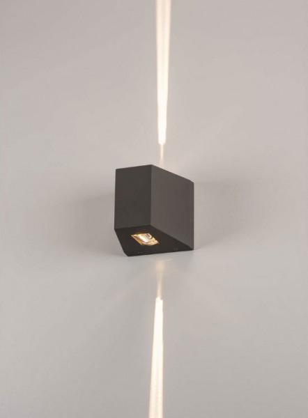 LED Fassadenstrahler in Oberfläche anthrazit mit zweiseitiger, sehr schmaler Abstrahlung