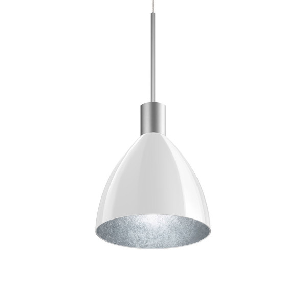 LED pendant luminaire SILVA NEO 160 for the 230V track system DUOLARE from Bruck - here the variant with surface matt chrome