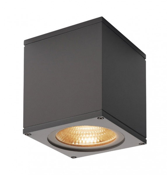 Very bright LED ceiling light in anthracite surface with a 21W LED and a luminous flux of 2000lm