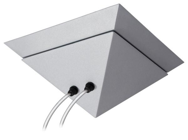Design Transformator Pyramide mit 200 oder 300VA in Oberfläche chrom matt