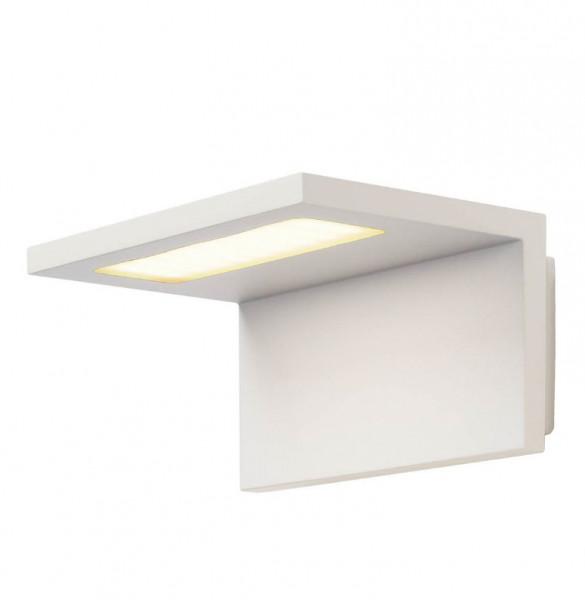 LED Wandleuchte in Oberfläche weiß mit einseitiger Abstrahlung für Terrassen, Balkone, Fassaden etc...