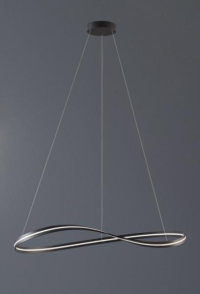 LED Deckenleuchte INFINITY von Escale - hier die Variante in Oberfläche anthrazit