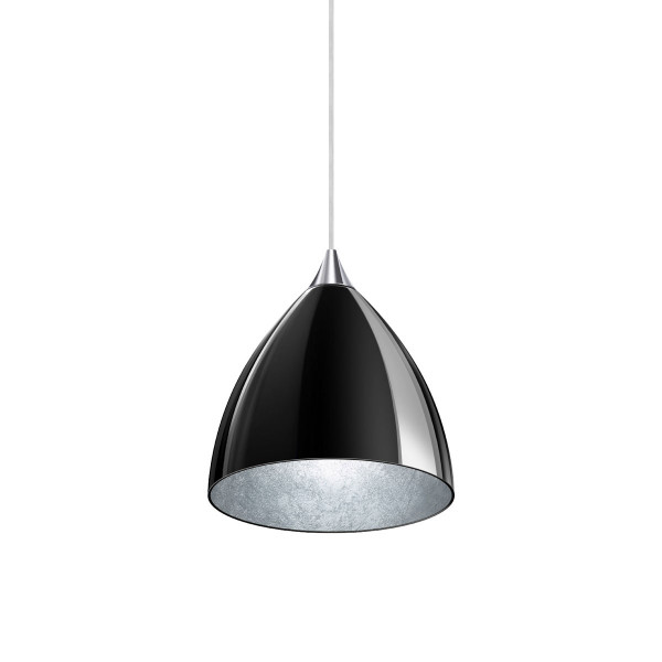 Pendant luminaire SILVA 160 for the 230V rail system DUOLARE from Bruck - here the variant with surface chrome