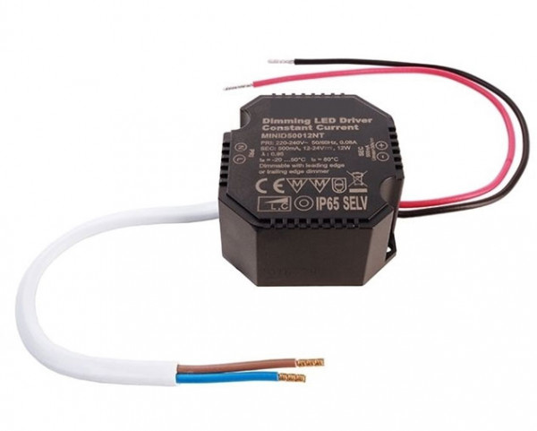 LED converter 500mA, 12W, dimmable