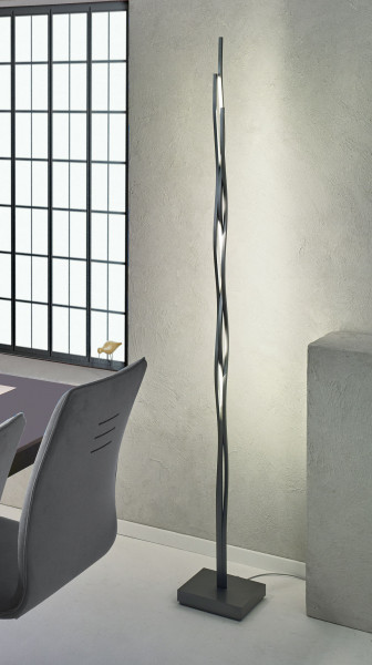 LED floor lamp SILK from Escale - here the variant in surface anthracite