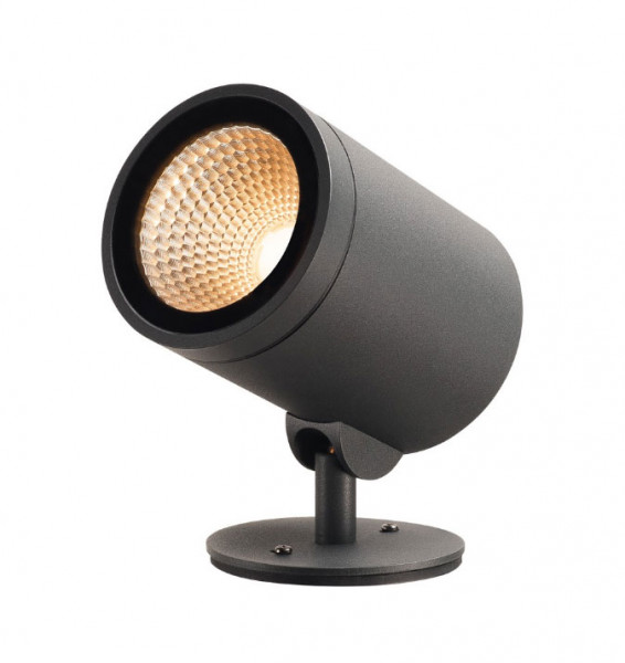 LED object or plant spotlight in anthracite surface with 3m supply cable and plug