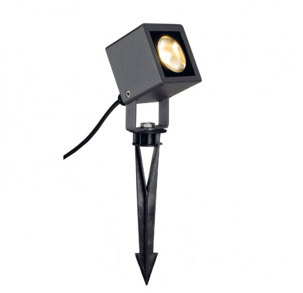 LED spike spotlight (here anthracite) for lighting plants or trees, optionally in the surface anthracite, red or green