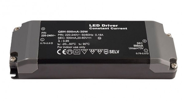 LED converter 500mA, 30W, not dimmable