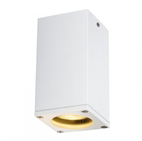 LED ceiling spotlight in white surface for interchangeable GU10 LED or halogen lamps