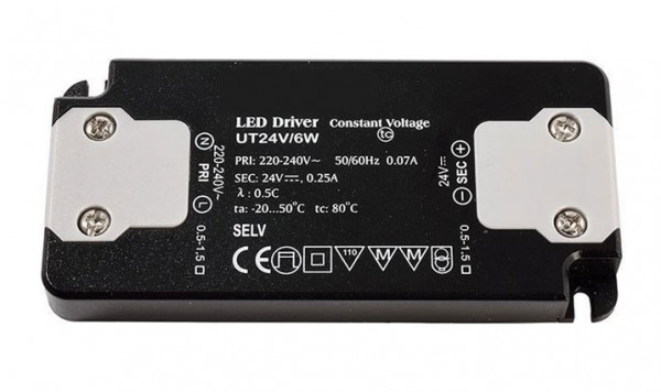 24V LED converter with constant output voltage, not dimmable, flat design