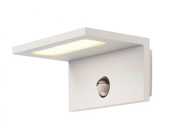 LED Fassadenleuchte mit eingebautem Bewegungsmelder zum automatischen Einschalten des Lichtes beim Erkennen einer Bewegung