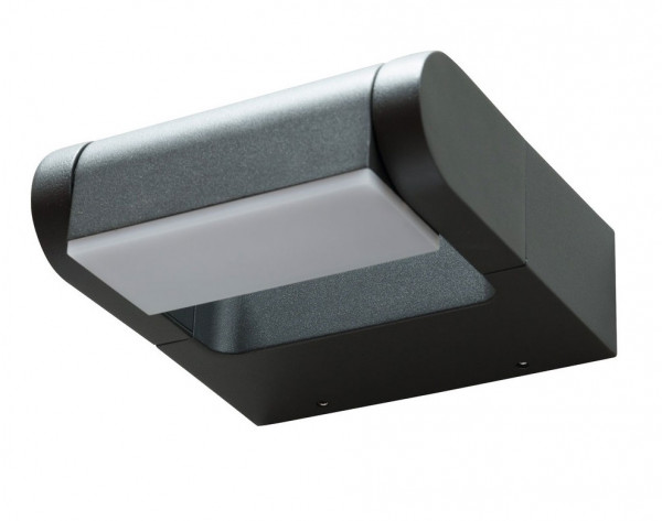 Swiveling ceiling and wall spotlights for outdoor applications with an anthracite surface