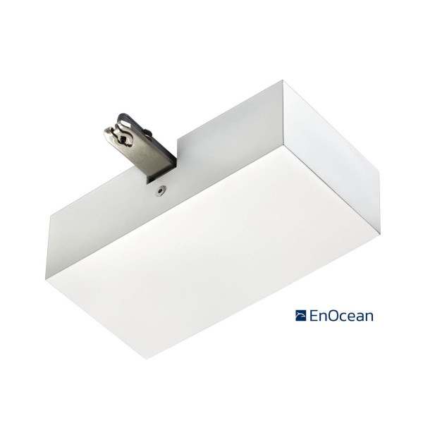EnOcean radio end feed for the 230V track system DUOLARE from Bruck - here the variant in surface white