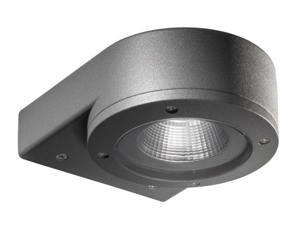 LED facade spotlight, single-sided, with 10W LED in anthracite / graphite surface