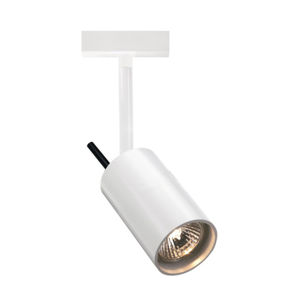 Spot light STAR 55 for the 230V track system DUOLARE from Bruck - here the variant in surface white