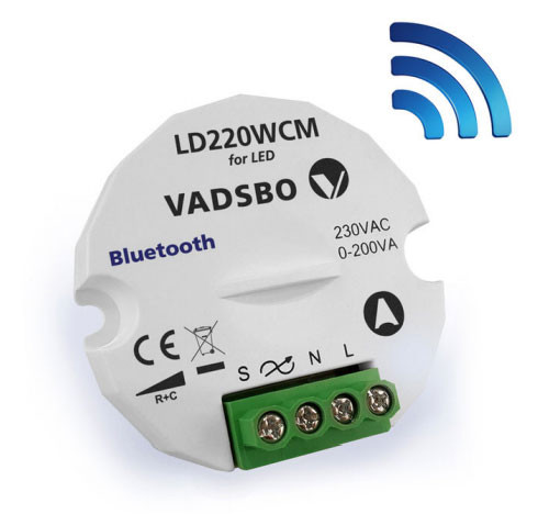 LED touch dimmer 0-200W with Casambi wireless technology