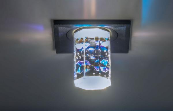 LED-Deckeneinbauleuchte OCTAGON mit Swarovski-Kristallen