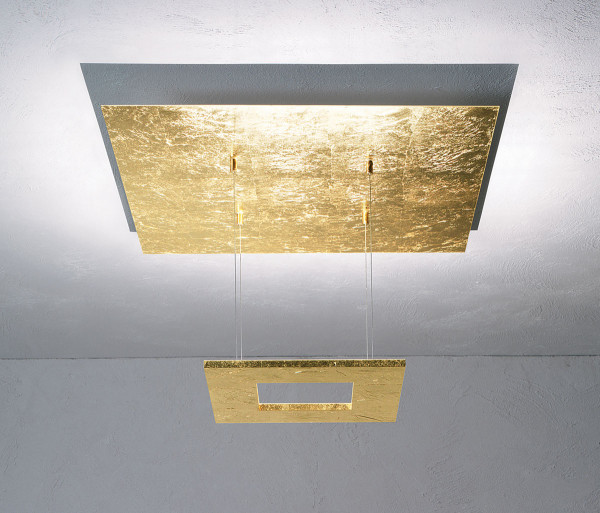 LED Ceiling light ZEN mini from Escale - here the variant in surface gold leaf