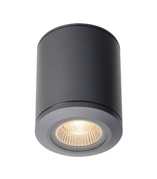 Very bright LED ceiling light in anthracite surface
