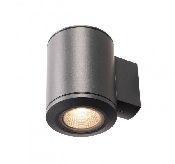 High power LED facade spotlight, one-sided, with an anthracite surface with a 28W LED and a luminous flux of 2900lm