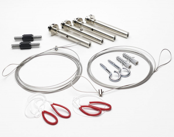 2x insulating parts with suspensions - scope of delivery