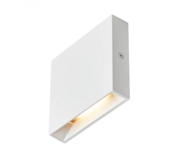 230V LED recessed wall light for illuminating stairs, corridors or passages near the floor